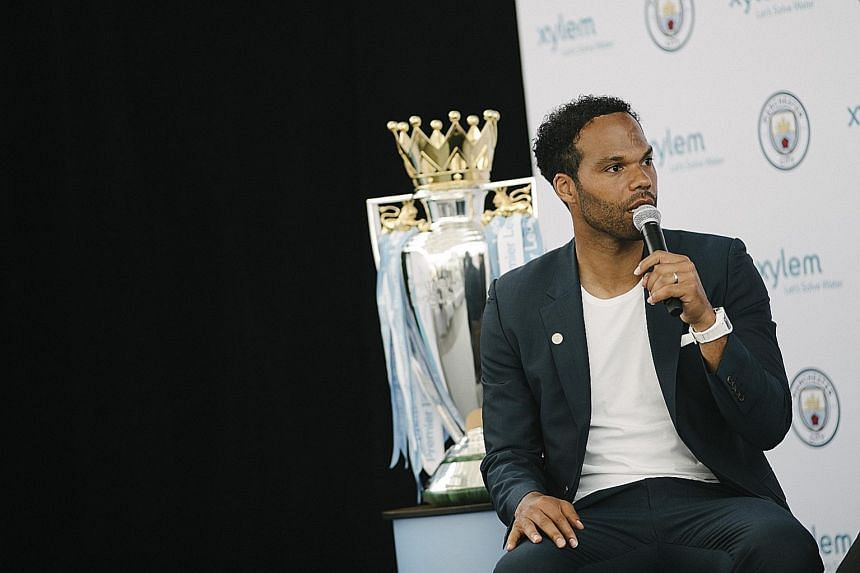 Former Manchester City and England defender Joleon Lescott was in Singapore yesterday in his capacity as the club's ambassador.