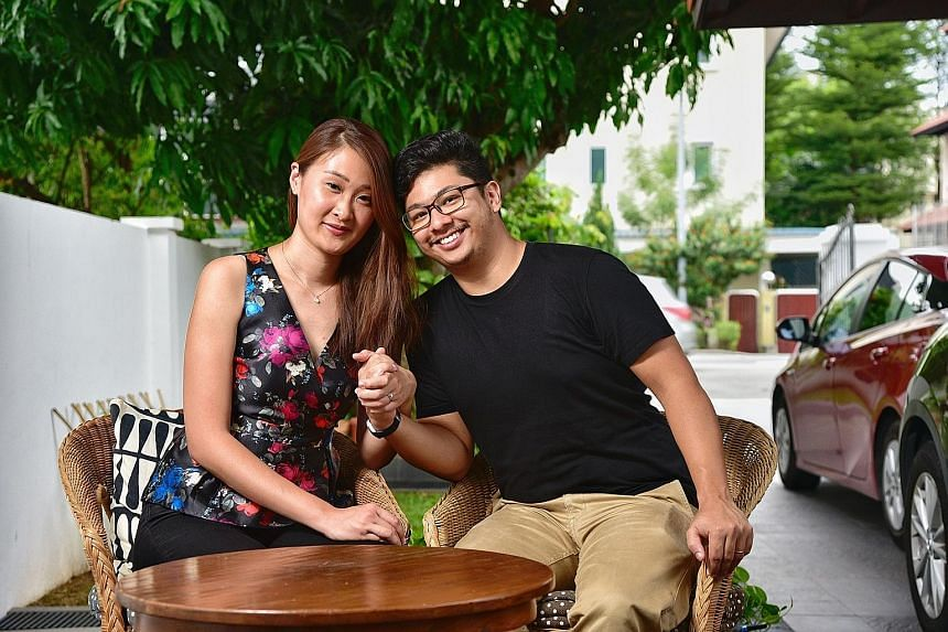 Interior designer Adeline Yeo married cinematographer K. Hanshen Sudderuddin last month. They said race was never an issue in their relationship. Mr Sudderuddin is himself a product of a mixed marriage - his father is Indian and mother Chinese.