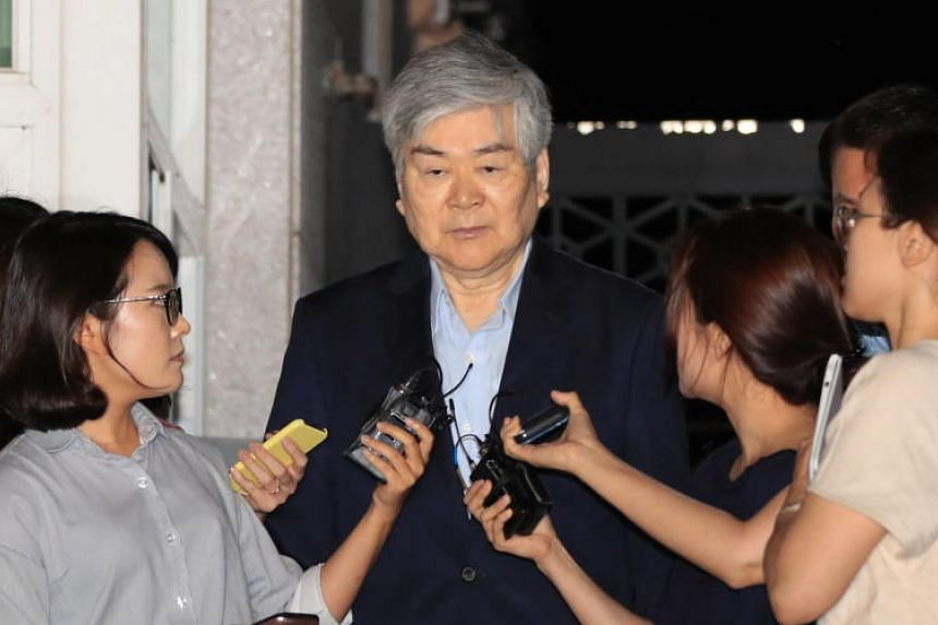 Korean Air's chairman Cho Yang-ho was grilled by prosecutors late last month over alleged tax evasion and other crimes.
