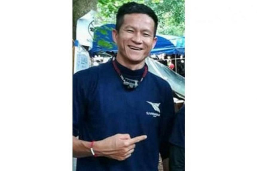 Petty Officer 1st class Saman Gunan, 38, who had joined the rescue operation, collapsed and died during the operation in the Tham Luang cave in Mae Sai district at about 1am on July 6, 2018.