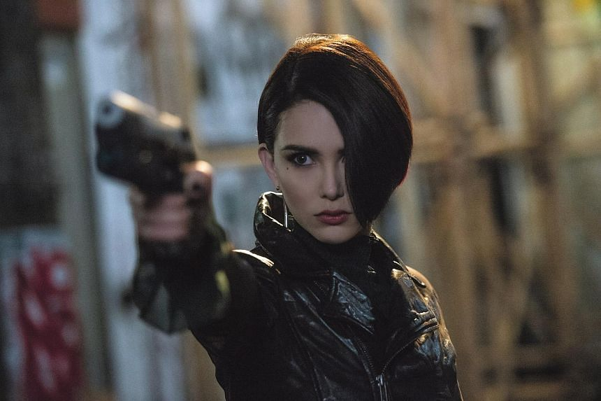 Taiwanese actress Hannah Quinlivan plays an assassin who is styled like a nightclub dominatrix in this lacklustre thriller.