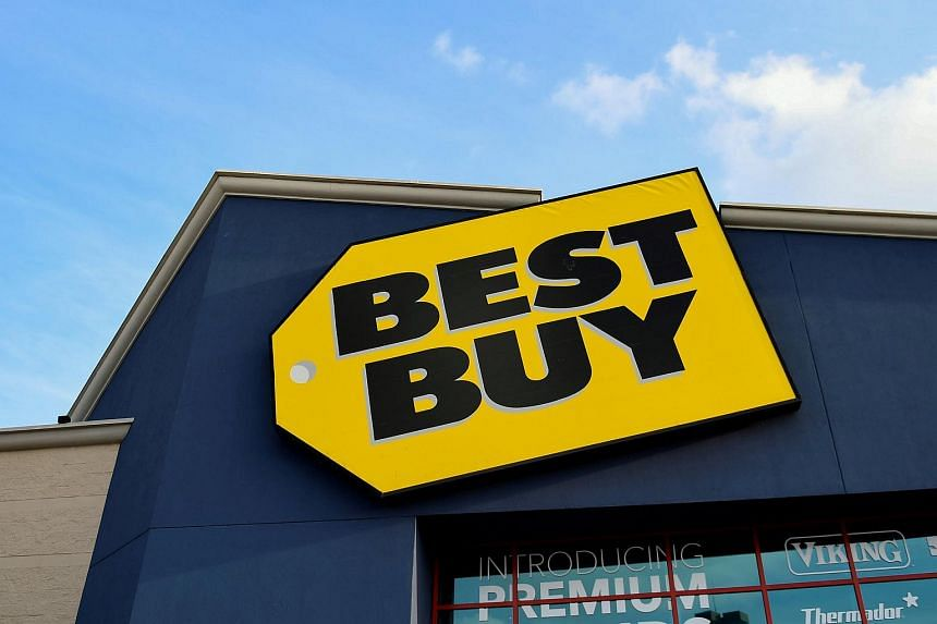 A Best Buy sign photographed outside its store in Cedar Park, Texas, on Feb 27, 2018.