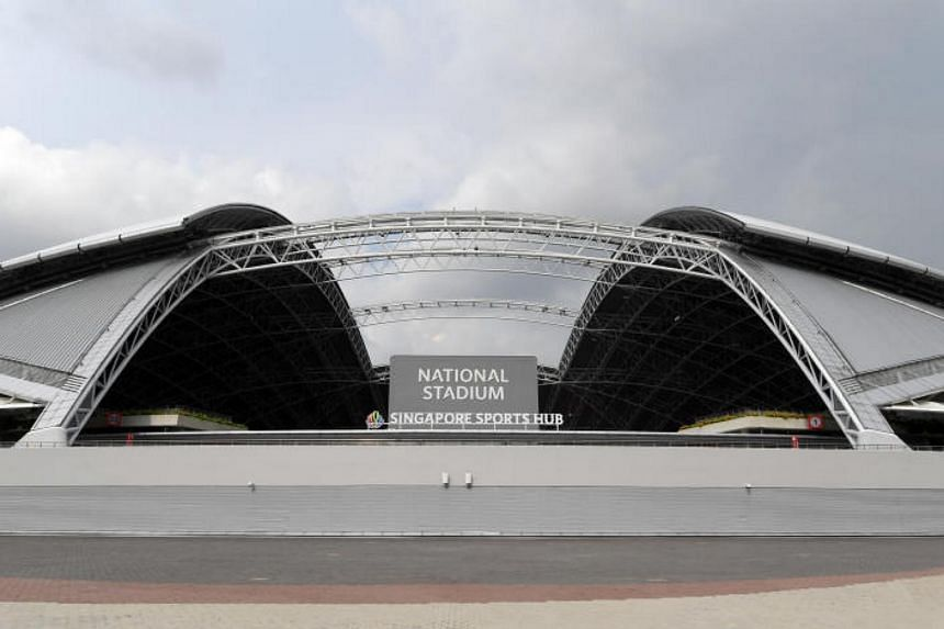 A general view of the exterior of the National Stadium.