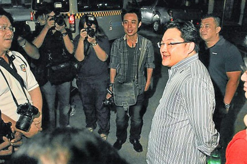 Malaysian businessman Low Taek Jho speaking to journalists in Penang in 2010. Mr Low, who has arrest warrants issued against him, was reportedly in Hong Kong for months before leaving for Macau. He is believed to have travelled to the mainland from M