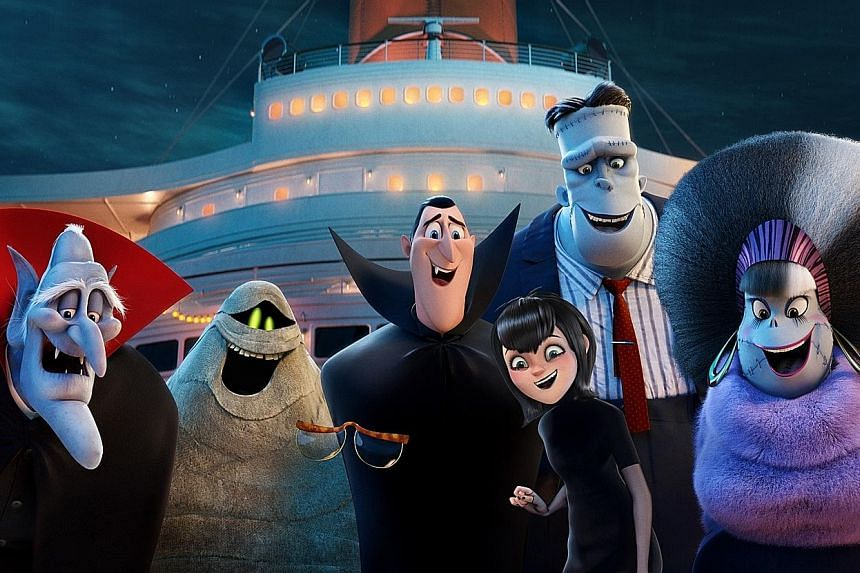 American singer and actress Selena Gomez (left) returns to voice Mavis the teenage vampire in Hotel Transylvania 3: A Monster Vacation (above).