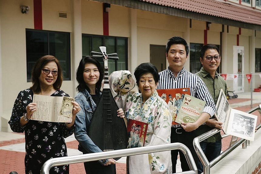 (From left) Ms Cindy Chat, head of the Kreta Ayer Heritage Gallery; Ms Lyn Lee, arts manager of the Siong Leng Musical Association; Mrs Joanna Wong, a Cantonese opera artist and Cultural Medallion winner; Mr Alvin Tan, the National Heritage Board's a