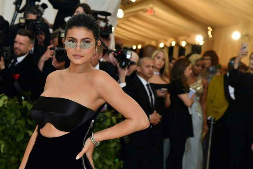 Kylie Jenner at the 2018 Met Gala at the Metropolitan Museum of Art in New York, on May 7, 2018.