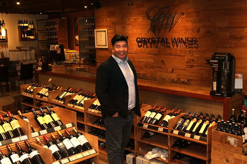 Mr Tan Wee Lee, the managing director of Crystal Wines which celebrates its 20th anniversary this year.