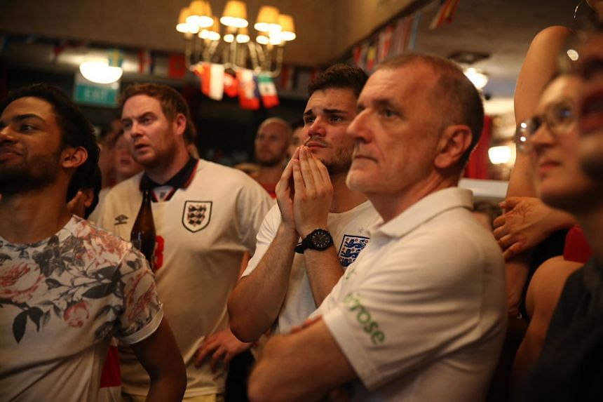 England fans after their team lost to Croatia in the World Cup semi-final.