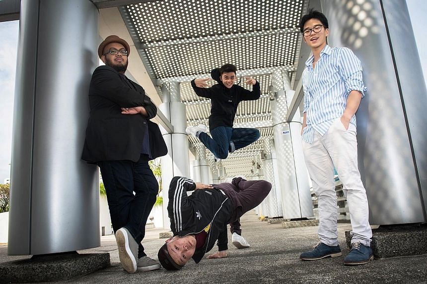 (Clockwise from far left) Mohamad Shaifulbahri, Michael Ng, Edward Eng and Dominic Nah are the creators of dead was the body till i taught it how to move.