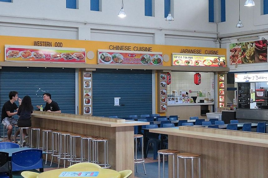 The suspension for the Chinese food stall at Nanyang Technological University's Canteen 13 is from Tuesday to July 23. It had accumulated 14 demerit points in the past 12 months, under NEA's points demerit system.