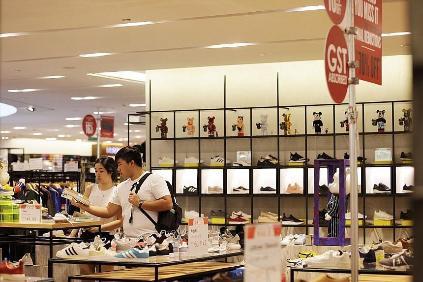 Takings from apparel and footwear, medical goods and toiletries, and department stores saw increases of between 2.7 per cent and 6.8 per cent in May. But sales of computer and telecommunications equipment fell 11.3 per cent, while those of motor vehi