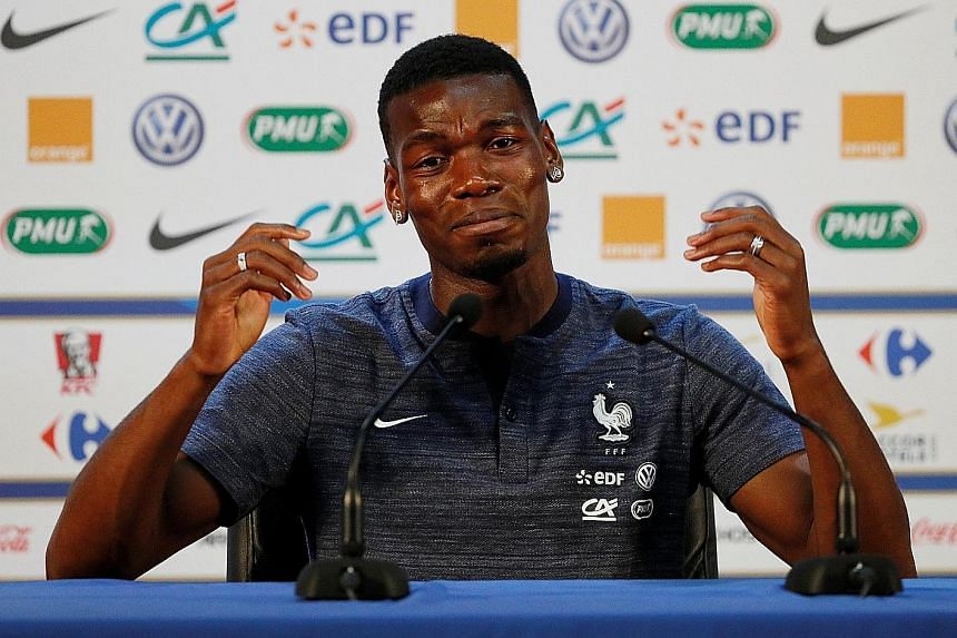 A reflective Paul Pogba during France's press conference in Istra yesterday. The team cannot wait to atone for their Euro 2016 failure.