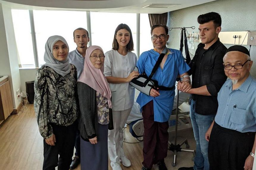 The procedure - a total reverse shoulder replacement - was done to treat a severe rotator cuff injury, said Datuk Seri Anwar Ibrahim's wife Wan Azizah Wan Ismail.