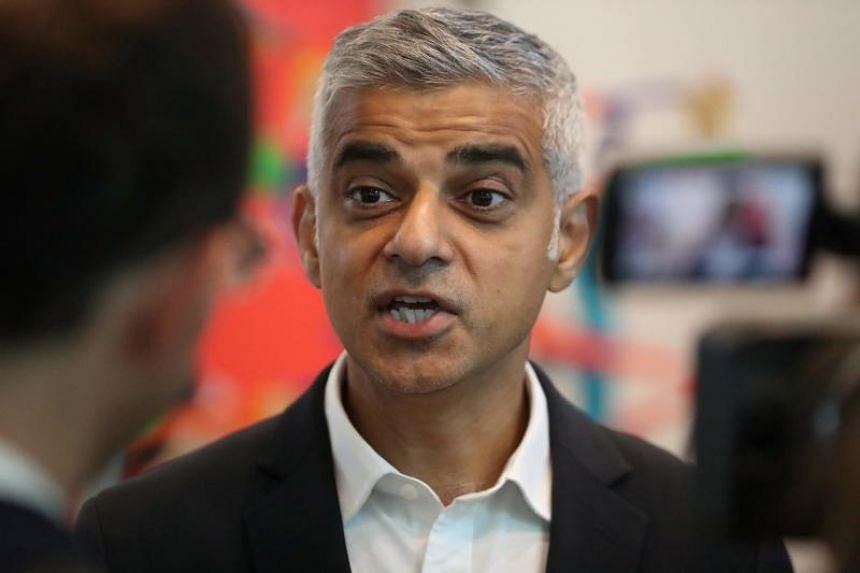 US President Donald Trump had earlier criticised London Mayor Sadiq Khan's (above) handling of crime and militant attacks.