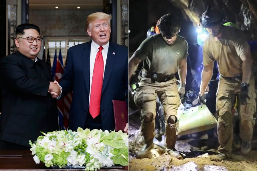 """The Trump-Kim Summit and the rescue of the 12 boys and their coach from the Tham Luang cave in Thailand were two media frenzies that """"gripped"""" the world within a short month."""