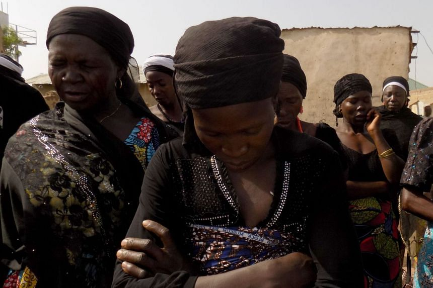 Mothers of missing Chibok schoolgirls pray for their daughters' release on April 2018.