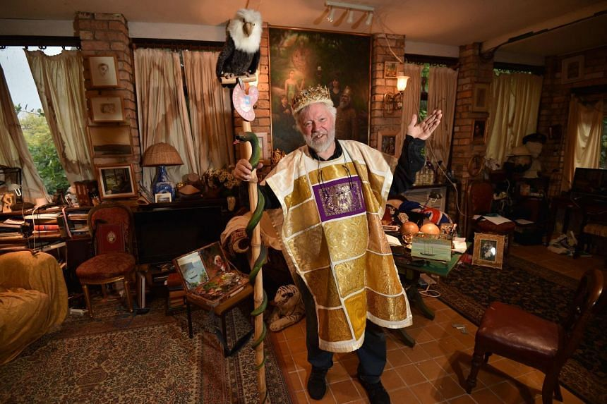 Paul Delprat, 76, at his home as the self-appointed Prince of the Principality of Wy, a micronation spanning his home in the north Sydney suburb of Mosman, on June 6, 2018.