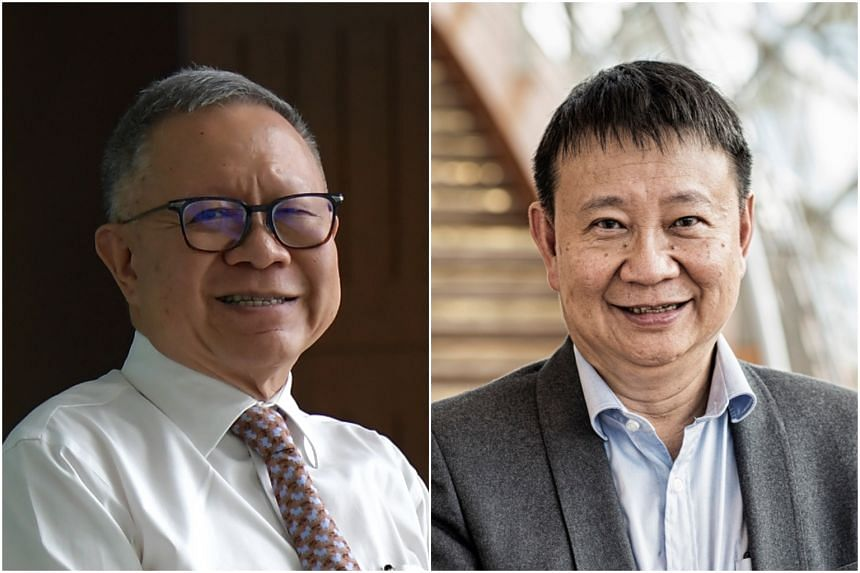 Public Service Commission (PSC) chairman Eddie Teo (left) is retiring on July 31, and will be replaced by current PSC deputy chairman Lee Tzu Yang from Aug 1, 2018.