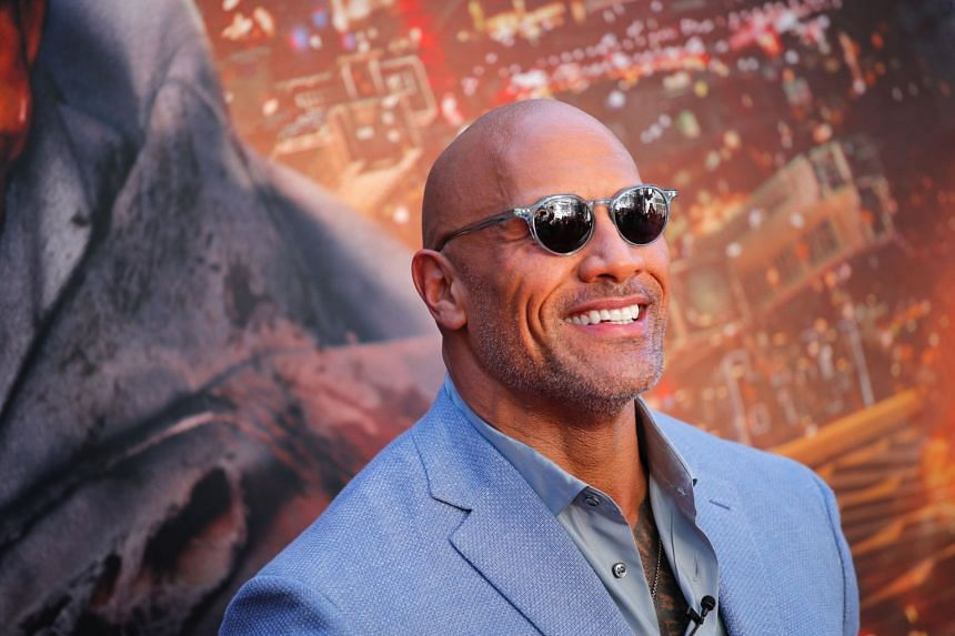 Actor Dwayne Johnson attends the premiere of Skyscraper in New York City, on July 10, 2018.