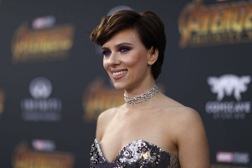 Actress Scarlett Johansson at the Los Angeles premiere of Avengers: Infinity War.