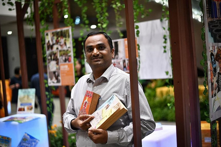 Chief automation engineer Ramalingam Vaithiyanathan, who moved from India to Singapore eight years ago, organised a book donation drive last October, which brought together other new immigrants and Singaporeans to help low-income families.