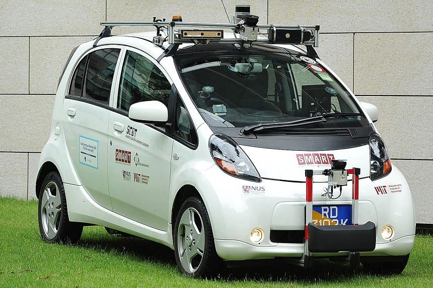 Autonomous vehicle Scot being tested at the National University of Singapore.
