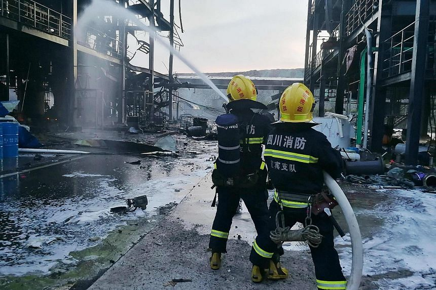 The cause of Thursday evening's blast at Yibin Hengda Technology in an industrial park several hours south-east of Chengdu is not yet known.