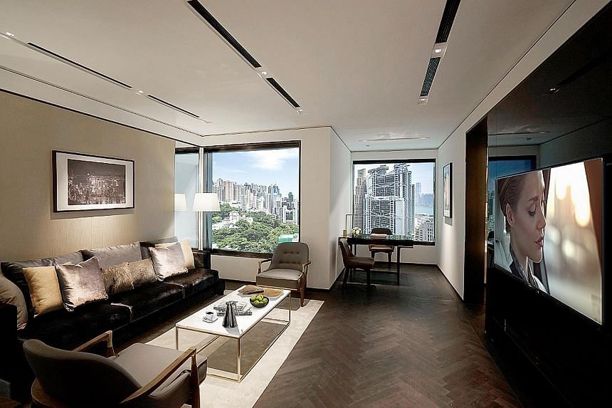 A room at The Murray, which is located in Cotton Tree Drive, on the periphery of Hong Kong's financial district.
