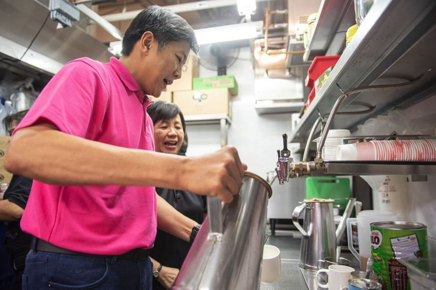 National Trades Union Congress' secretary-general Ng Chee Meng at the official opening of Pasir Ris Central Hawker Centre on July 14, 2018.