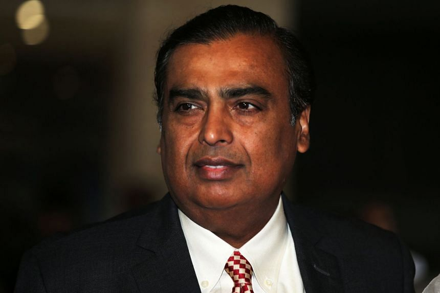 Mukesh Ambani was estimated to be worth US$44.3 billion (S$60.5 billion) on Friday (July 13) with Reliance Industries rising 1.6 per cent to a record 1,099.8 rupees.