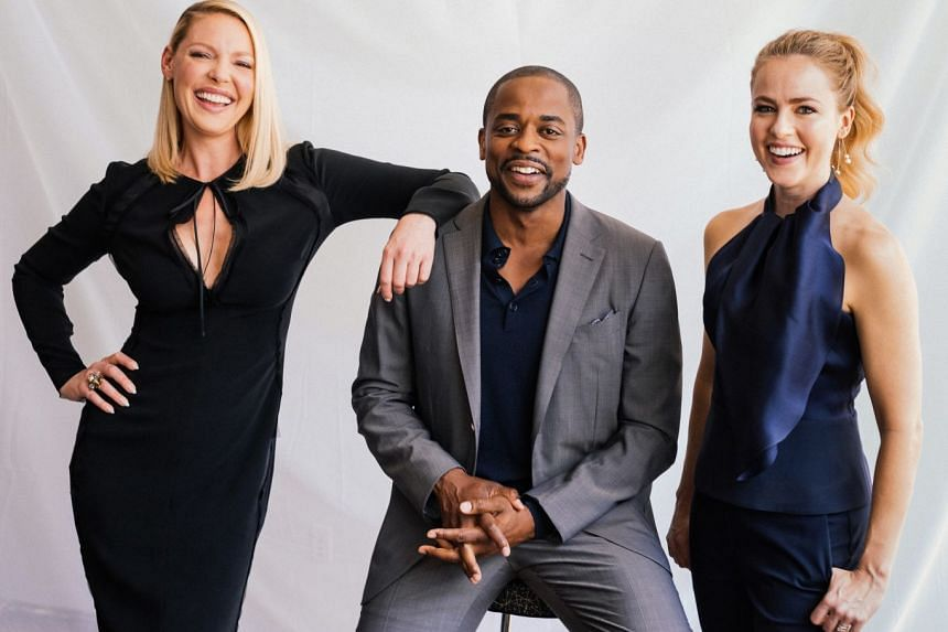 The reinvented season of legal drama Suits features (from left) Katherine Heigl, Dule Hill and Amanda Schull.