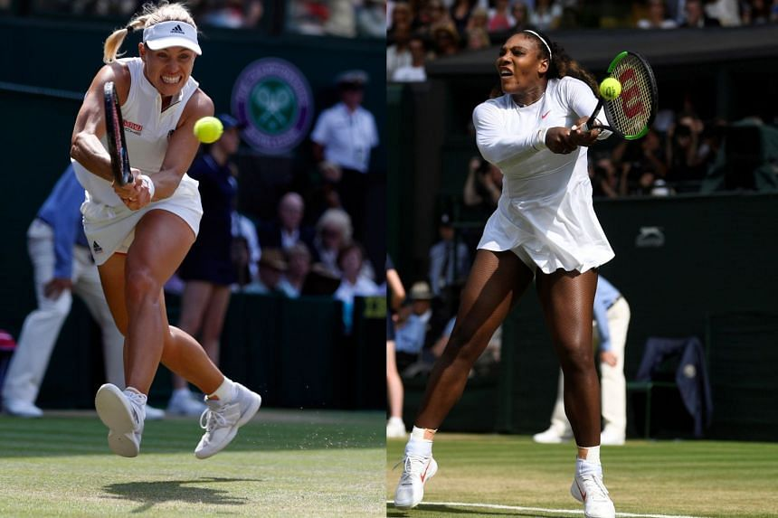 Angelique Kerber and Serena Williams are facing off in a repeat of the 2016 Wimbledon final.