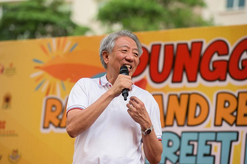 DPM Teo Chee Hean speaking at the 14th Punggol North Racial and Religious Harmony Street Parade, on July 15, 2018.