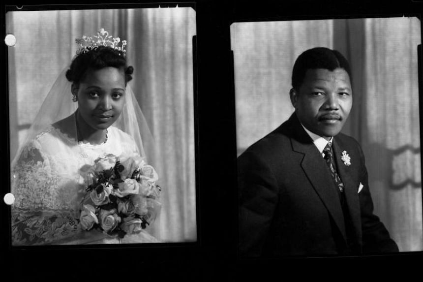 A young Nelson Mandela and his second wife, Winnie Mandela.