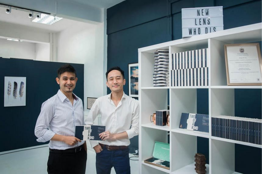 Mr Javad Namazie (left) and Mr Darryn Tan, co-founders of Singapore contact lens company Two of a Kind.