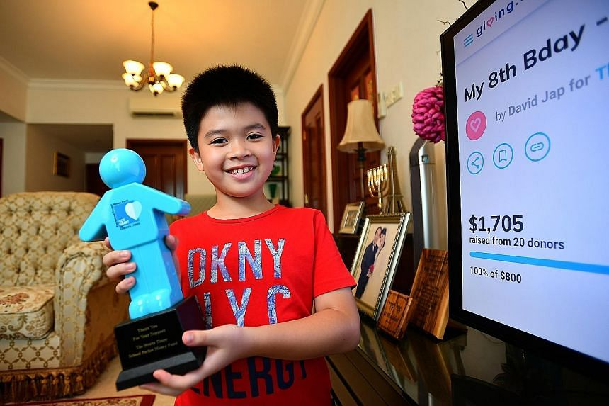 For his birthday this year, David Jap started a crowdfunding campaign and asked party guests to donate to The Straits Times School Pocket Money Fund for needy children.