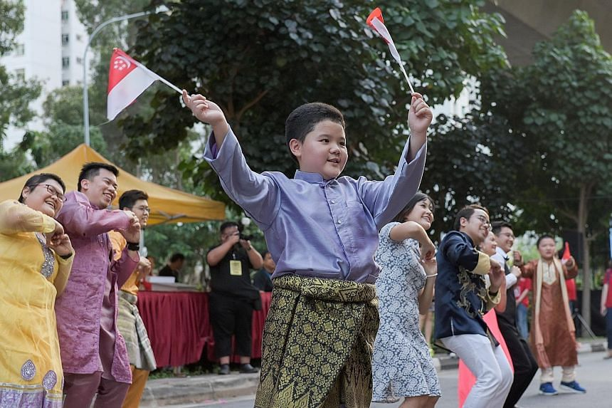 The Punggol North Racial and Religious Harmony Street Parade yesterday featured dance performances, heritage exhibitions and cultural booths. About 10,000 residents attended the event.