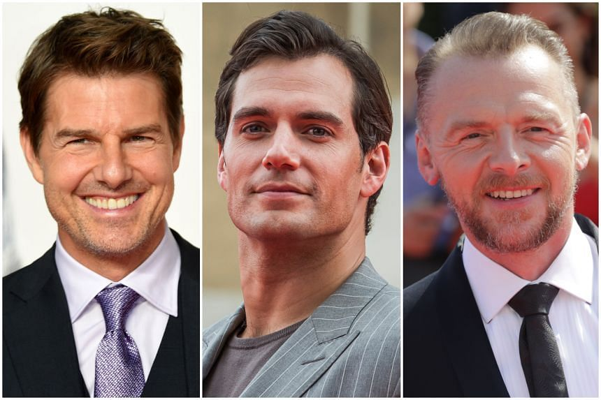 (From left) Stars Tom Cruise, Henry Cavill and Simon Pegg will appear on South Korean variety show Running Man, on July 22, 2018.