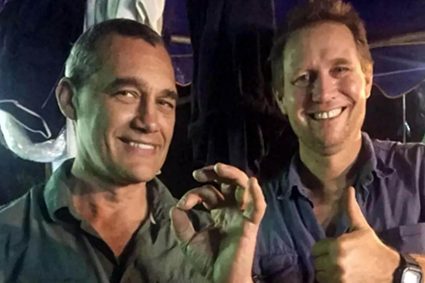 Anaesthetist Richard Harris (right) and his diving partner Craig Challen, both cave diving specialists, have obtained diplomatic immunity before the rescue in case it failed.