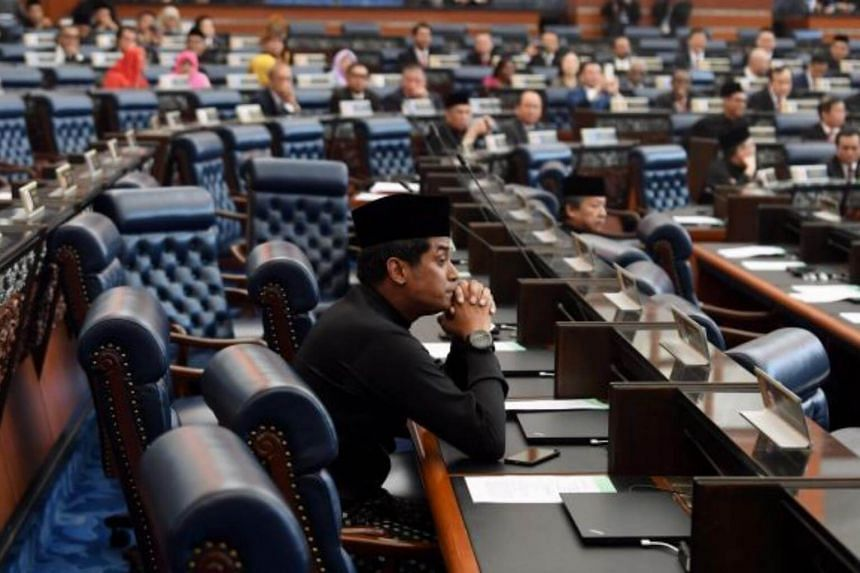 Khairy Jamaluddin in the Dewan Rakyat on July 16, 2018.