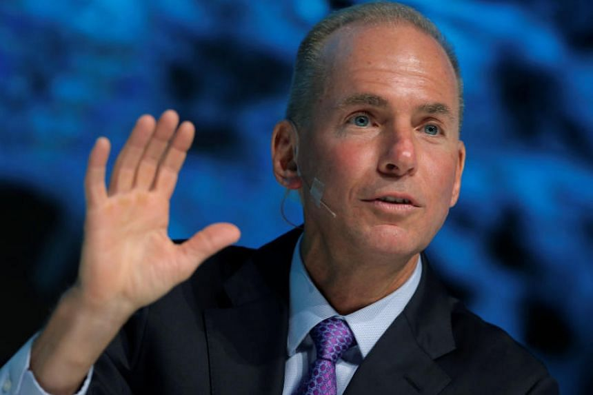 President, Chairman and CEO of The Boeing Company Dennis Muilenburg speaks at a conference in Chicago, Illinois, US, Oct 4, 2016.