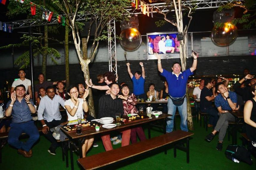 Guests watching the World Cup final screening at 1-Altitude on July 16, 2018.