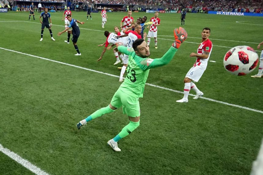Croatia's Mario Mandzukic scores an own goal and the first for France in the thrilling World Cup final in Moscow on the 15 Jul, 2018. PHOTO: REUTERS