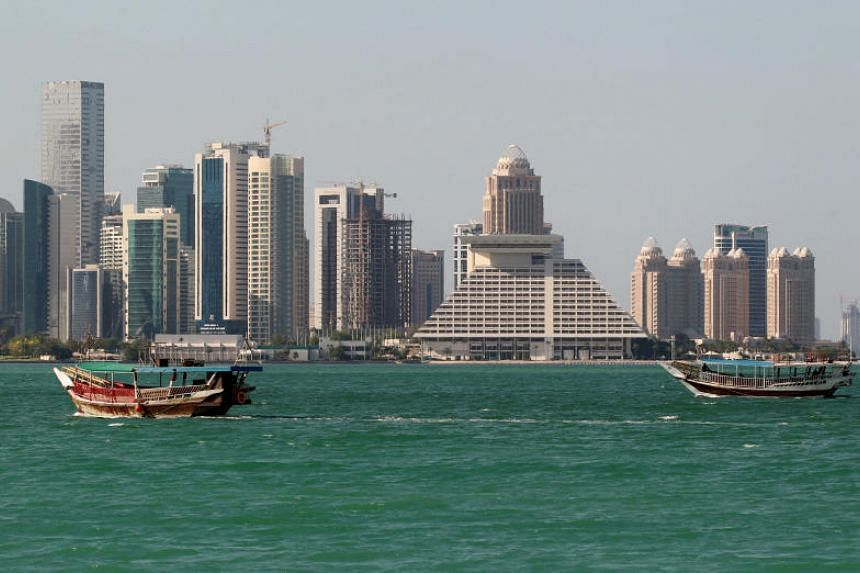 General view of a coastline in Doha, Qatar, on June 5, 2017.