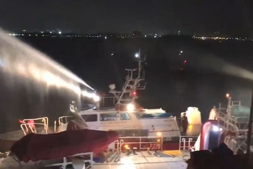 No injuries were reported, and all crew members of the ship were accounted for.