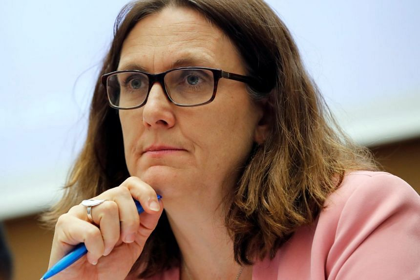 "EU Trade Commissioner Cecilia Malmstrom hailed the free trade accord with Tokyo as a ""strong signal to the world"" against American protectionism."