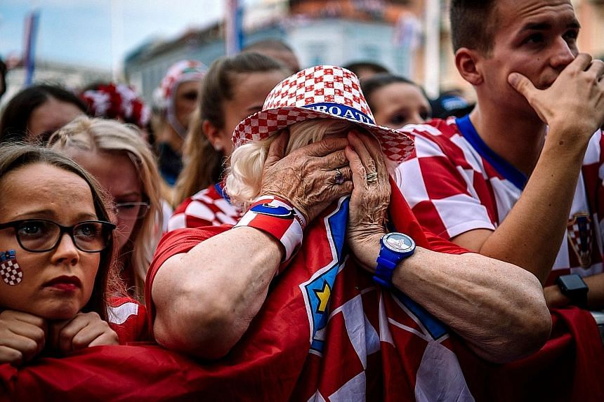 Croatian fans watching in despair as France won 4-2 on Sunday. Croatia are the smallest nation to make a World Cup final in 68 years and, despite the loss, the team have improved on their 1998 third-place finish.