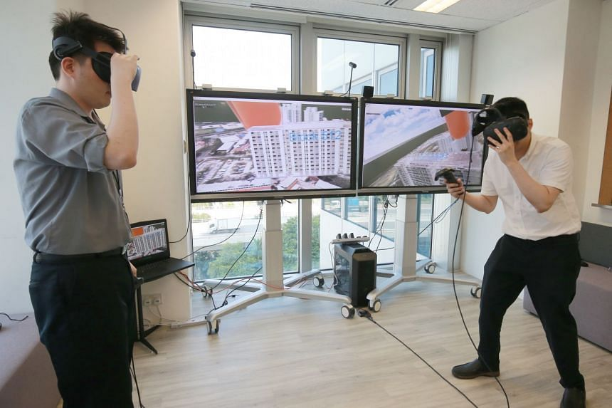 Geospatial technology being developed at The Singapore Land Authority's latest industry centre, GeoWorks, where 22 start-ups are housed.