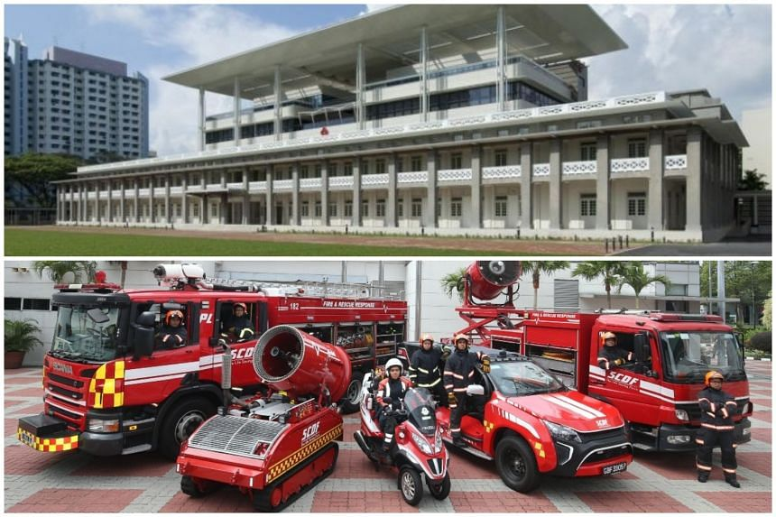The People's Association (top) and SCDF were among the government agencies flagged for lapses by the Auditor-General's office.